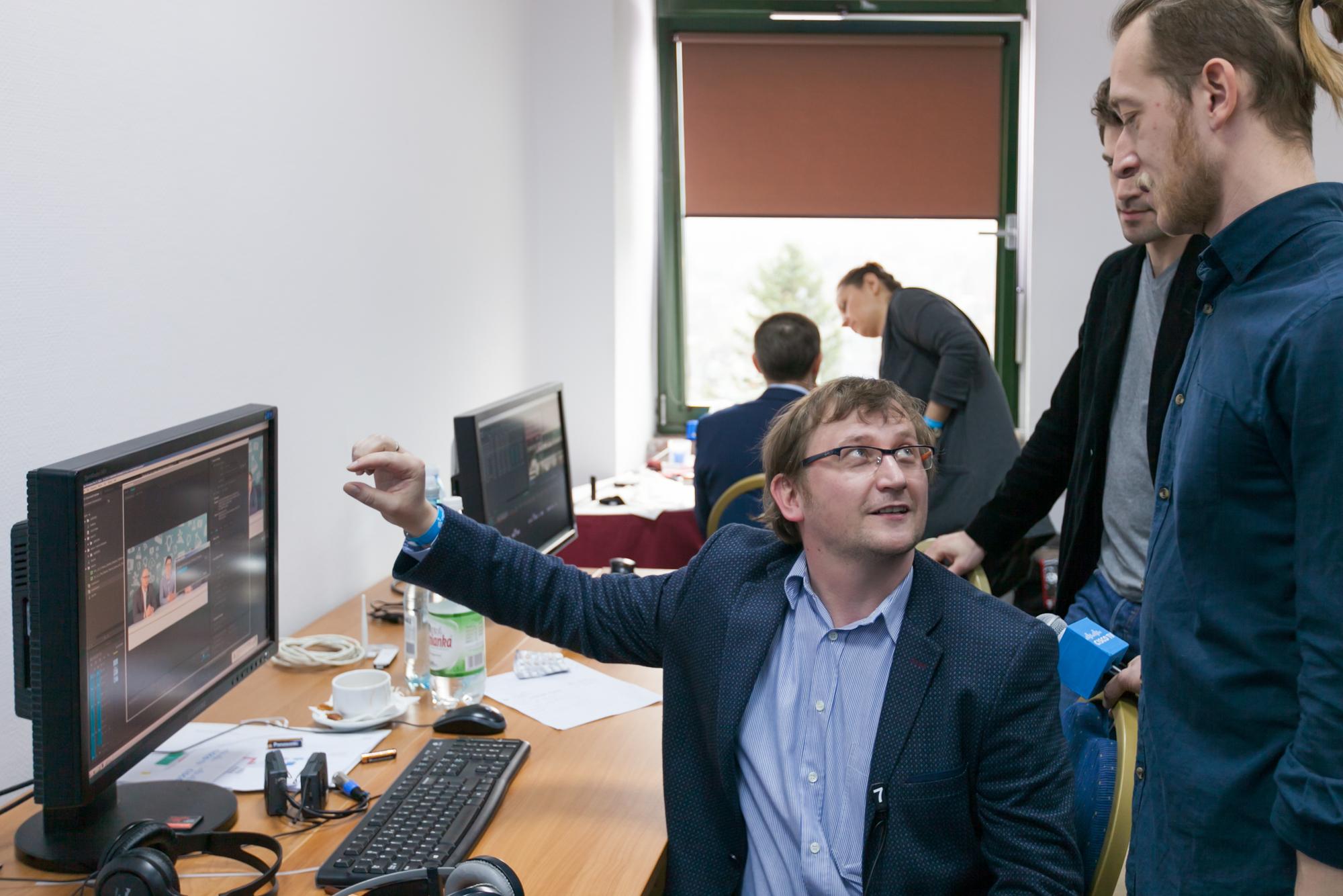 zdjęcie making of Cisco forum Mateusz Młochowski