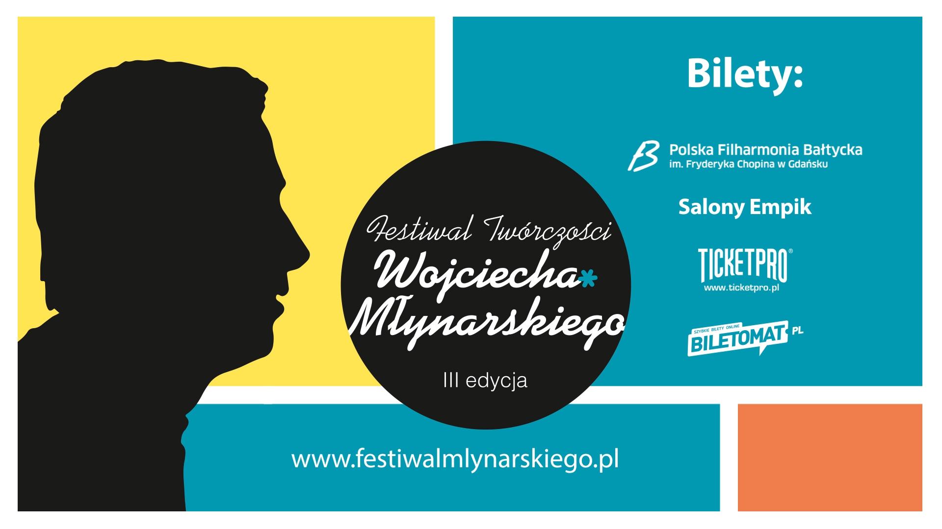 grafika billboard festiwal twórczości Wojciecha Młynarskiego