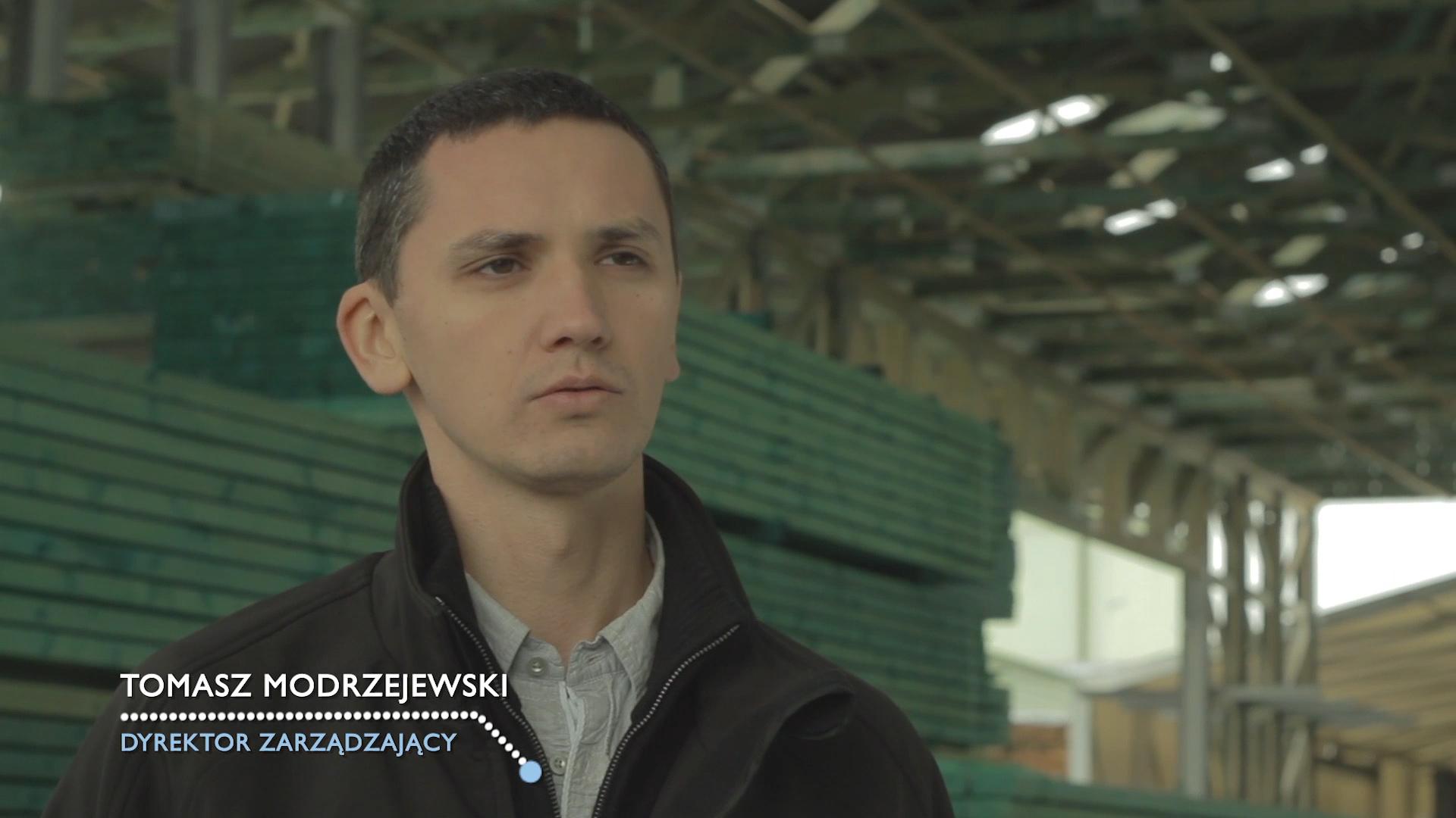 kadr z filmu Cembrit referencje Tomasz Modrzejewski