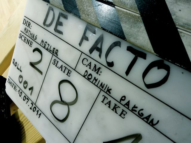 zdjęcia making of film De facto