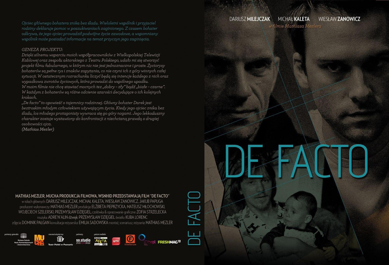 okładka film De facto