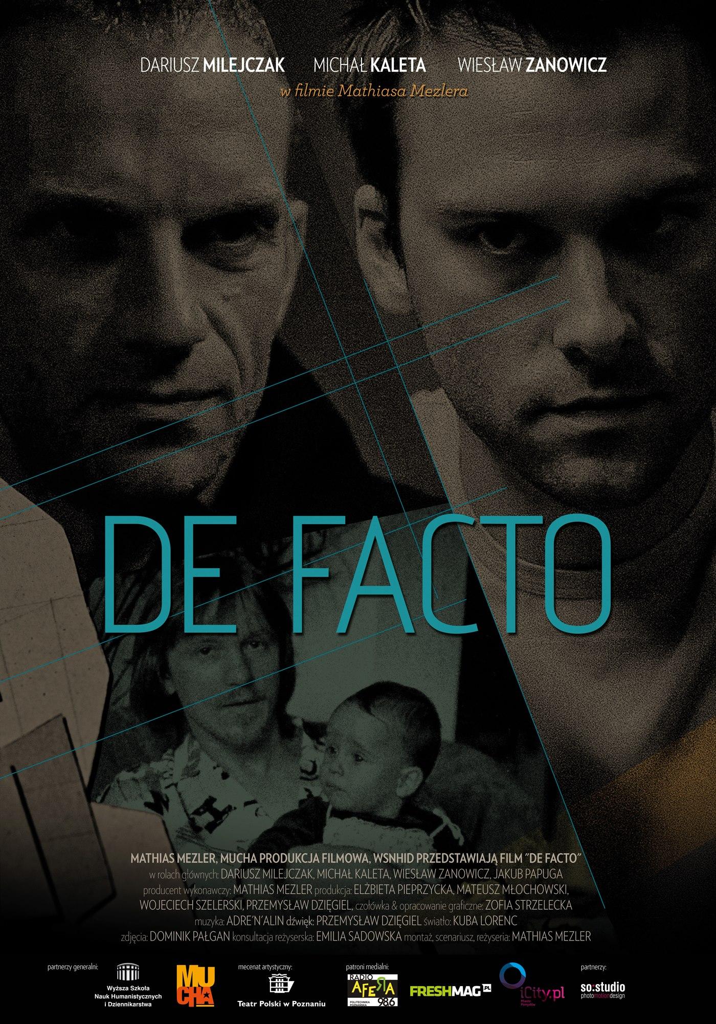 plakat film De facto