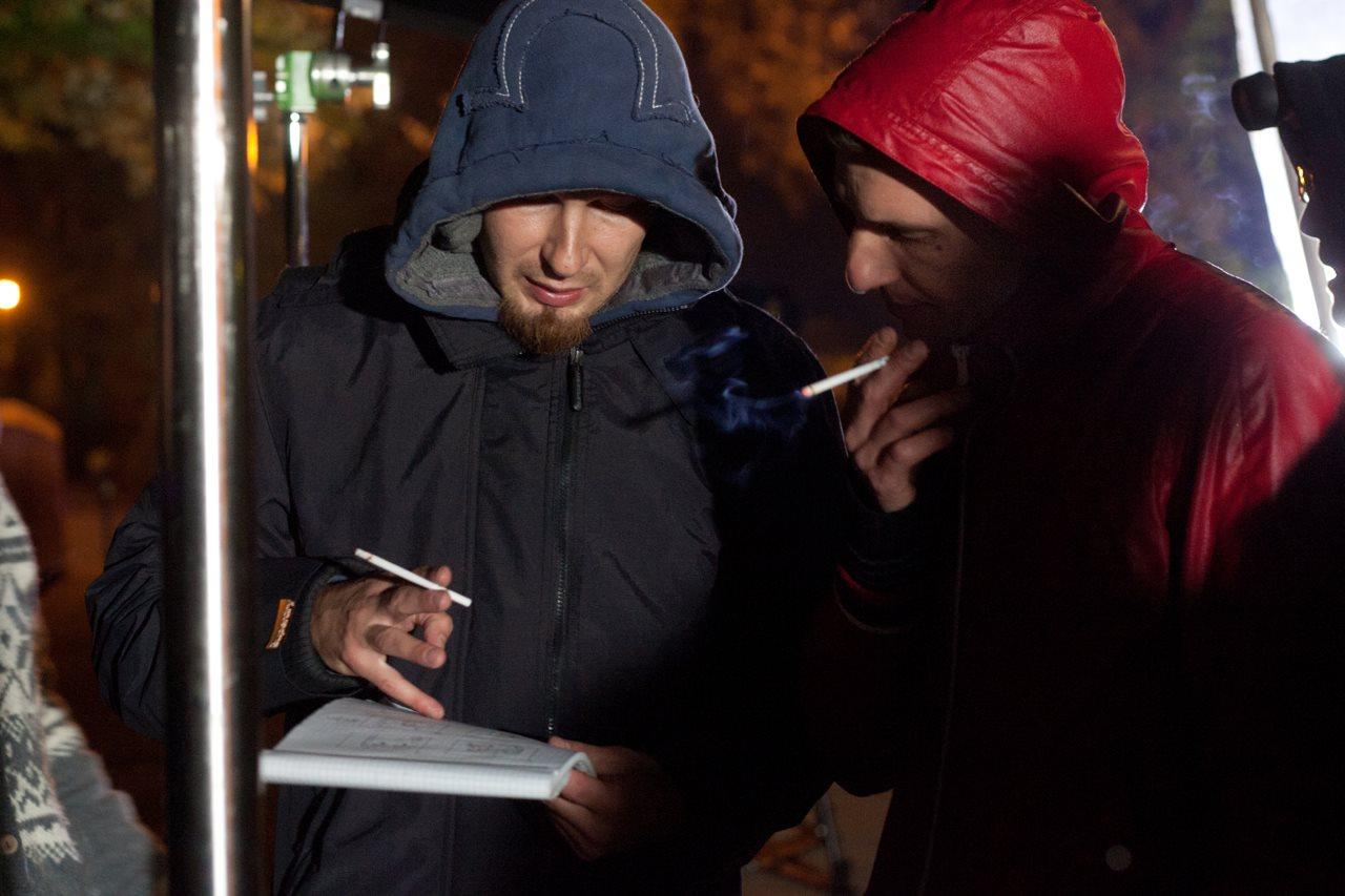 zdjęcia making of film Paranaia - Błażej Kujawa i Kuba Lorenc